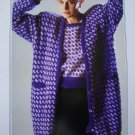 Womens Plus Size Knitting Patterns Sweater Top and Long Cardigan Jacket 1311
