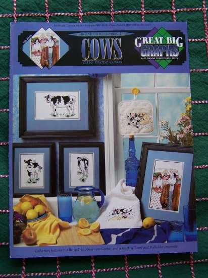 Cows Counted Cross Stitch Great Big Graphs Easy Reading Charts