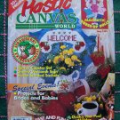 Plastic Canvas World May 1993 + 20 Patterns Magnetic Dress Up Dolls Strawberry Time