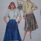 Women's Vintage Skirts Sewing Patterns Fancy Yokes Pleated Gathered 14 16 18 20