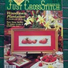 Just Cross Stitch Patterns Magazine March April 1990 Back Issue Summer