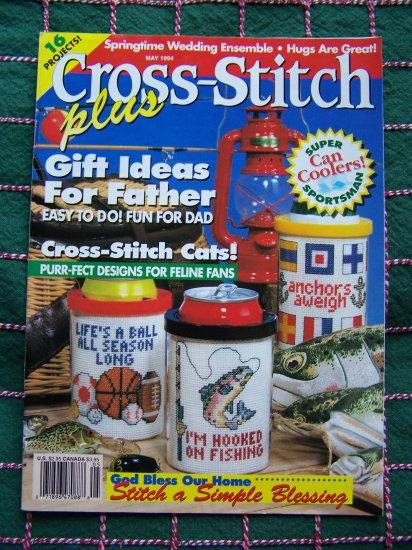 1 Cent US Shipping May 94 Cross Stitch Plus Patterns Magazine Fathers Day & More