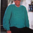 Men's Big & Tall Knitting Pattern Bulky Textured Pullover Sweater 1313 XL XXL XXXL