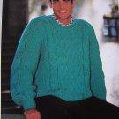 Men's Big & Tall Knitting Pattern Bulky Textured Pullover Sweater 1313 XL XXL XXXL