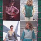 5 VIntage International Designers Womens Sweaters Fashion Knit Knitting Patterns