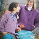 4 Vintage Classic Knitting Patterns For Misses & Girls Leaflet