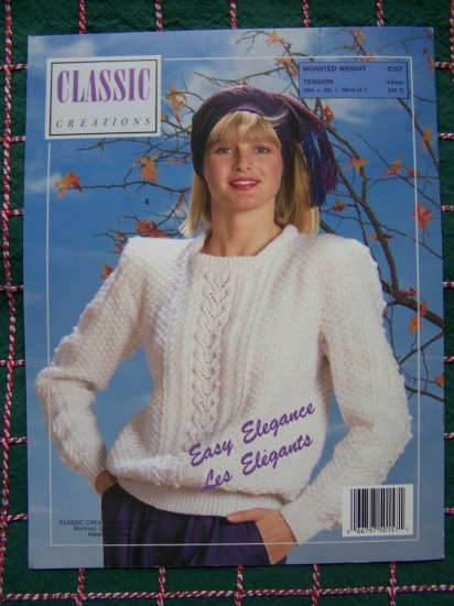 4 Misses Lacy Cardigan Pullovers Vintage Knitting Patterns Booklet Classic Creations