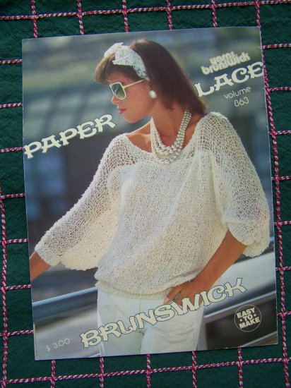 4 Easy 80's Retro Misses Lace Sweaters Knit Patterns Lacy Summer Cardigan Shell Top Pullover