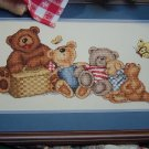 1 Cent USA S&H Needlework Pattern The Bear's Picnic Embroidery 2221