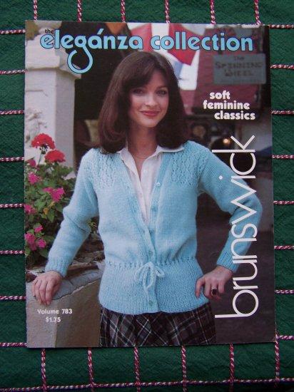 Vintage Classic Misses 3 Crocheting & 7 Knitting Patterns Booklet Brunswick 783