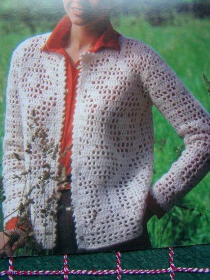 3 Retro Misses Knitting Patterns Bernat Lacy Textured Sweaters Book 271 Sz 8 10 12 14 16 18