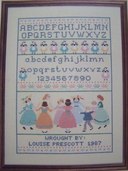 1988 A Girls First Sampler Pattern Cross Stitch Needlework Gloria & Pat # 18