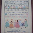 1988 A Girls First Sampler Pattern Cross Stitch Needlework Gloria & Pat # 18
