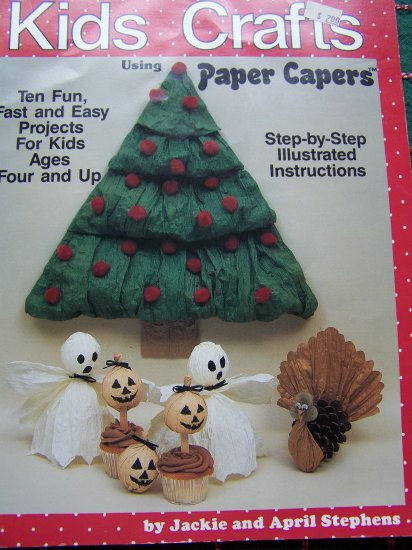 1980's Kids Crafts 10 Pattern Book Paper Capers