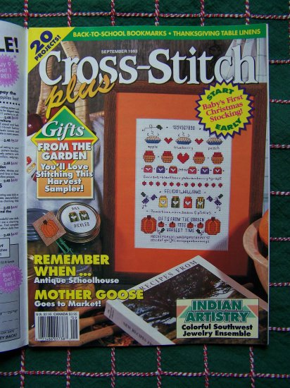 1 Cent USA S&H Cross Stitch Plus Lot of 20 Patterns Back Issue Magazine Sept 93