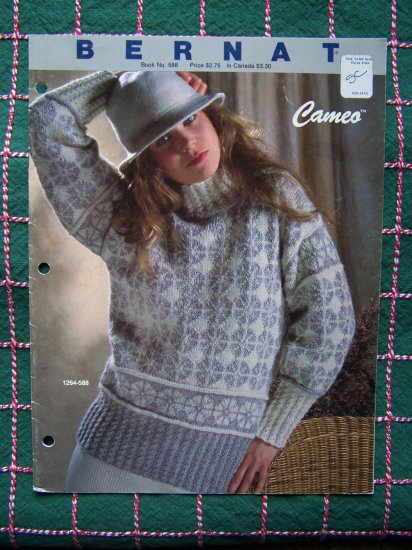 4 Womens Sweaters Bernat Handicrafter Vintage KNitting Patterns Book 588