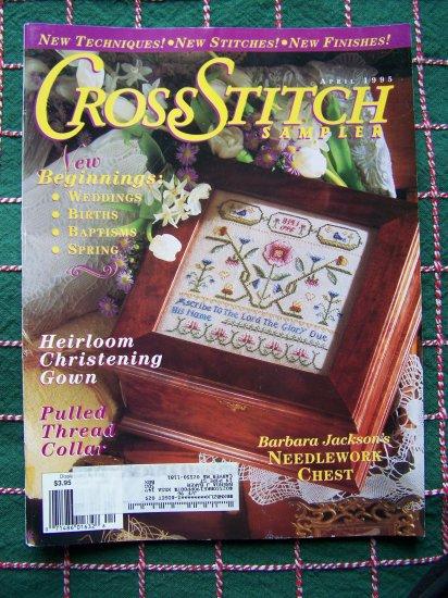 USA 1 CENT S&H Cross Stitch Sampler Patterns Magazine April 95