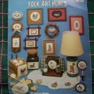 1 Cent USA S&H 20 Folk Art Primitive Country Counted Cross Stitch Patterns 338