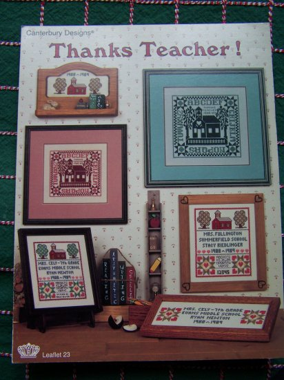 1 Cent USA S&H Vintage Teacher Remembrance Gift Cross Stitch Patterns Leaflet 23