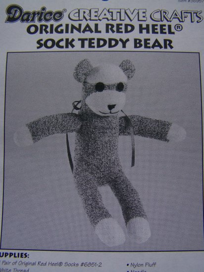 USA 1 Cent S&H Red Heel Sock Stuffed Teddy Bear Sewing Craft Pattern