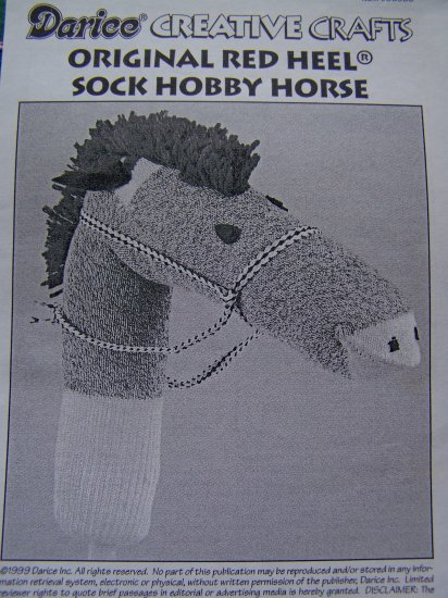 1 Cent USA S&H Instructions Red Heel Sock Hobby Horse Stick Pony Pattern Crafts
