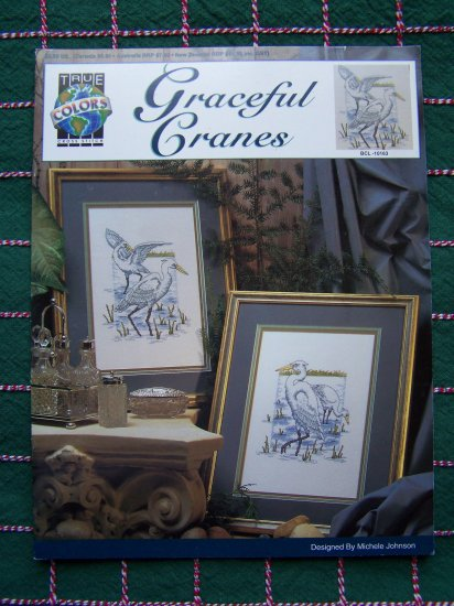 USA 1 Cent S&H 2 Wild Cranes Cross Stitch Needlework Craft Patterns