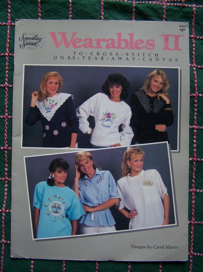 14 Vintage Cross Stitch Patterns Tear Away or Waste Canvas Embroidery