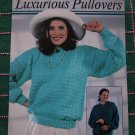 3 Knitting Patterns Misses Button Slit Ribbed Hi Neck Tied Slit Neck S M L XL