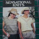 1 C USA S&H Retro Misses SUmmer Knit Top Sweetheart V Scoop Square Neck Knitting Patterns 490
