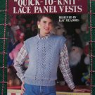 1 Cent USA S&H 3 Retro Misses Quick Knit Lace Panel Vest Knitting Patterns