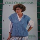 1Cent Shipping 3 Retro Quick Crochet Vests Patterns Womens 417 Cardigan Bulky Stitch V