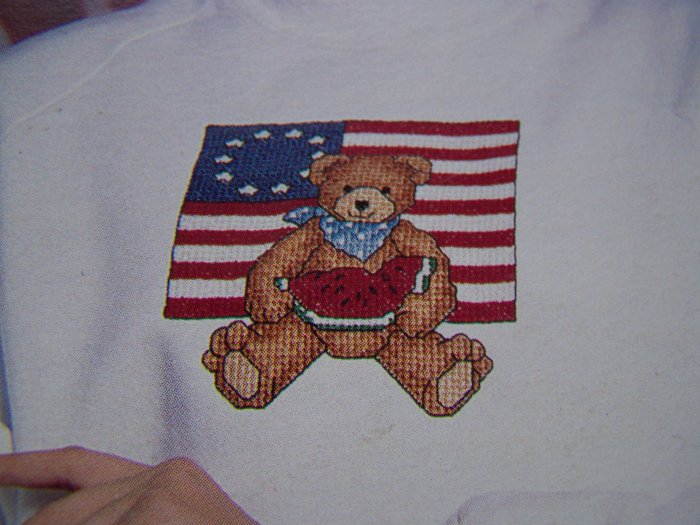1 Cent USA S&H 9 Cross Stitch Patterns in Waste Canvas Holiday Bears