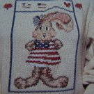 1 Cent S&H USA Cross Stitch Duplicate Patterns Americana Bunny Santa Sampler Xmas Lamb