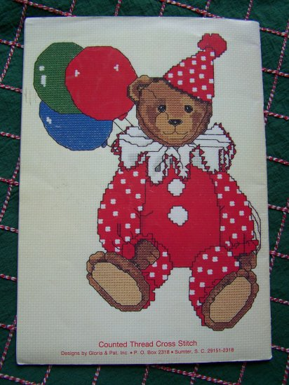 25 Vintage Teddy Bear Patterns Cross Stitch Embroidery Needlepoint Book