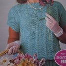 1 Cent USA S&H 2 Retro Knitting Patterns Shell Stitch Lace Eyelet Tops 1503