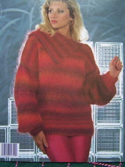 1 Cent USA S&H Vintage Womens Knitting Pattern Tunic Tops RIbbed Yoke & Split Collar S M L