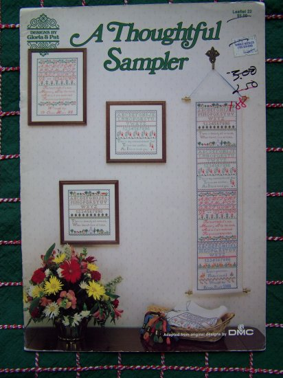 1 Cent S&H USA Vintage Needlepoint Patterns A Thoughtful Sampler 22