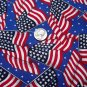 6 Lot of Red White Blue Patriotic Flags & Sparkle Firecrackers Stars Cotton Craft Fabric