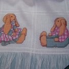 1 Cent USA S&H Vintage Baby Bunny & Hearts Afghan Counted Cross Stitch Patterns