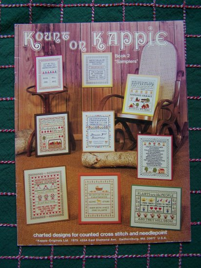 9 Vintage Samplers Book Counted Cross Stitch Needlepoint Charts Patterns Graphs