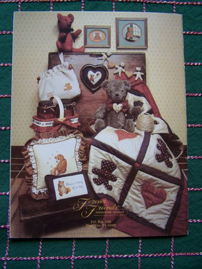 1984 Teddy Bears Embroidery Needlepoint Patterns & Sewing Stuffed Bears Book 12