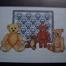 1 Cent USA S&H 4 Antique Teddy Bears and Basket Quilt Sampler Embroidery Pattern