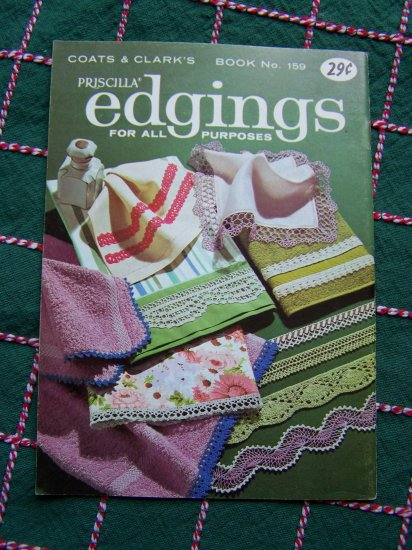 USA 1 Cent S&H 1960's Retro Tatted Crochet Knit Edgings Patterns Book 159