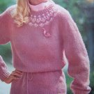 6 Vintage Knitting Patterns Misses Fairisle Peplum Textured Cardigan & V Pullover Vest Jacket