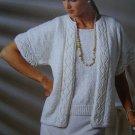 Vintage KNitting Patterns Womens Summer Jacket Tank Top V Neck Shirt Long Sleeve Sweater 787a