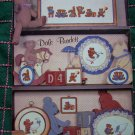 Vintage 80's Dale Burdett Cross Stitch Patterns Book Teddy Bears & Friends