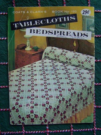 1960's Retro Crochet Knitting Patterns Bedspreads Tablecloths Pattern Book 120