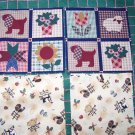 11 Pc Lot of Country Cotton Fabric Barn Farm Animals Print Sewing Quilt Material