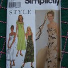 Women Empire Waist Sundress Puffed Sleeve Summer Dresses Sewing Patterns 9089