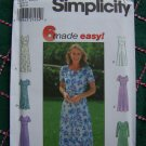 Misses Sewing Pattern 6 Easy Dresses Flared Raised Waist Flutter Scalloped Collar 8084 Size 6 8 10